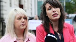 Sarah Ewart and Grainne Teggart of Amnesty International,