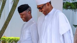 Ọjọgbọn Yemi Osinbajo ati Muhammadu Buhari