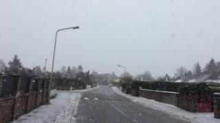 Snow in Inverness on Thursday