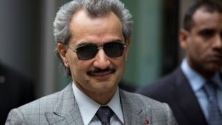 Príncipe Alwaleed bin Talal em Londres em 2013