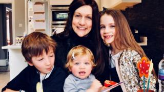 Lisa Foster and her three children Zach, Scarlett and Ruby