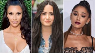 Kim Kardashian West, Ariana Grande, Demi Lovato