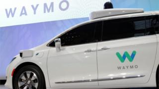 Waymo self-driving car seen at North American International Auto Show in Detroit, January 2017