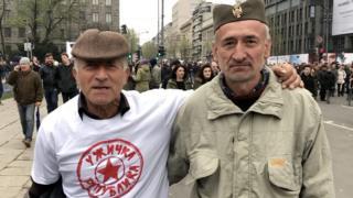 """Demonstranti na protestu """"Svi kao jedan"""""""