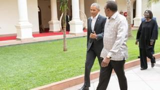 Kenyatta oo madaxtooyada ku soo dhoweynaya Obama