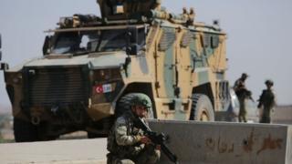Suriye'de görev yapan bir Türk askeri