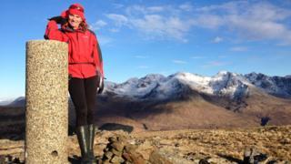 Jenny Hatfield on An Cruachan on Skye
