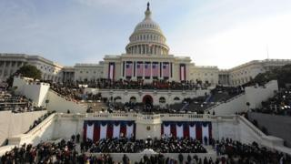 Capitol building on inauguration day