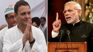 पंतप्रधान नरेंद्र मोदी आणि राहुल गांधी