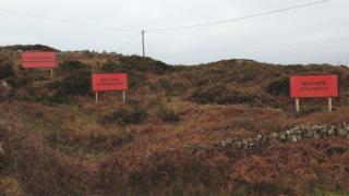 Three billboards praising Martin McDonagh in County Galway