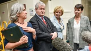 Plaid Cymru MP Liz Saville-Roberts, SNP MP Ian Blackford, MP Independent Group for Change Anna Soubry and Green Party MP Caroline Lucas