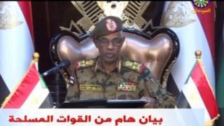 Sudan Savunma Bakanı Orgeneral Avad Muhammed Ahmed bin Avf