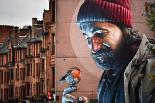Mural near Glasgow Cathedral