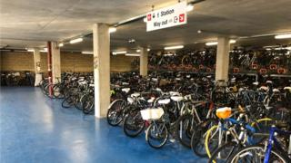 Bikes at Cambridge station