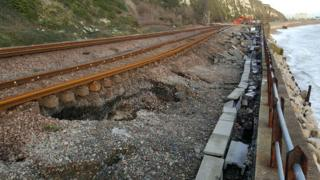 Dover to Folkestone railway line