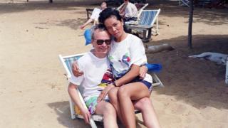 Sommai e o marido em Pattaya há quase 30 anos