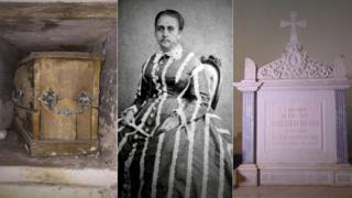 Túmulo em Londres, Condessa Mariana Claudina e seu túmulo em Três Rios