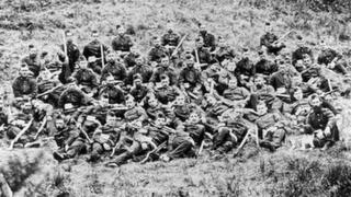 These men are the B Company 2/24th Regiment- the men who defended Rorke's Drift.