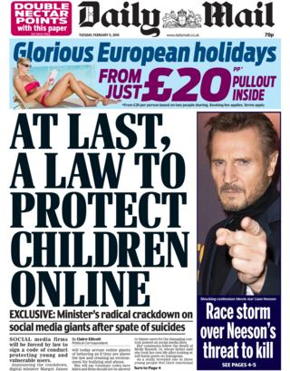 Daily Mail front page, 5/2/19