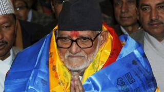 File photo of Nepal's former prime minister Sushil Koirala