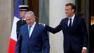 امانوئل مکرون امروز در پاریس میزبان بنیامین نتانیاهو بود