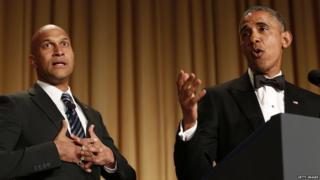 Comedian Keegan Michael-Key with President Obama
