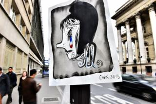 Marianne poster in Paris after the attacks (November 2015)