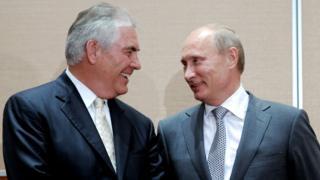 Рекс Тиллерсон и Владимир Путин, 2011 год