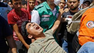 احتجاجات في غزة