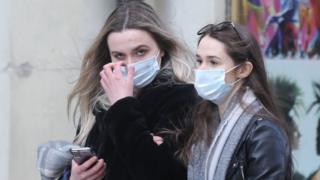 Women wearing facemasks