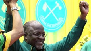 John Magufuli, then the CCM party's presidential candidate in Tanzania - July 2015