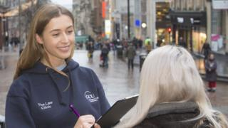 Law student in Glasgow city centre