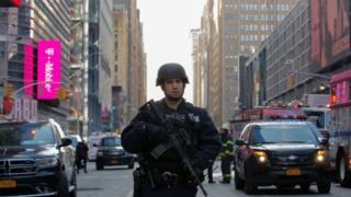 Police near New York Port Authority, 11 December