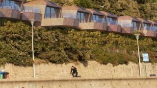 CGI of revised beach huts plan