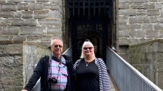 Rosemary and David Eaton at Castle Rushen