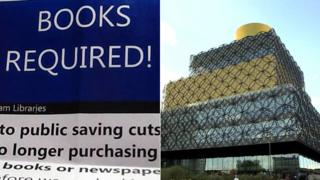 Library poster and Library of Birmingham