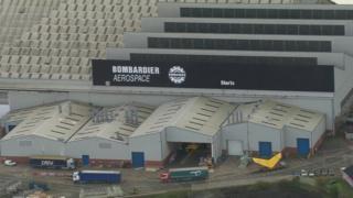 Bombardier aerospace site in Belfast