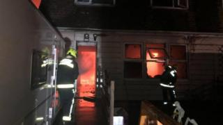 Crews tackle house fire