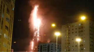 Fire in Sharjah