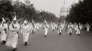 Ku Klux Klan parade in DC in 1927