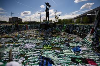 Tributes at Celtic Park