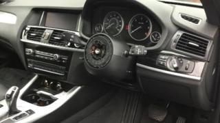 Stolen steering wheel