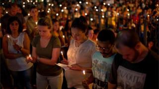Moradores de Brumadinho rezam missa em tributo às vítimas da comunidade de Parque das Cachoeiras em 31 de janeiro
