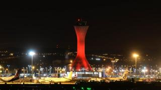 Edinburgh Airport air traffic control tower