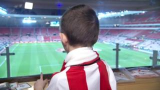 Nathan Shippey overlooking Sunderland's pitch