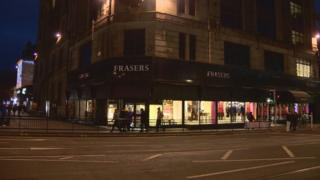 Frasers store in Edinburgh