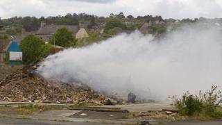 Newtownards rubbish fire