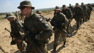 Polish troops training in western Ukraine, 17 Sep 14