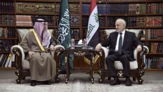 وزير الخارجية السعودي ونظيره العراقي
