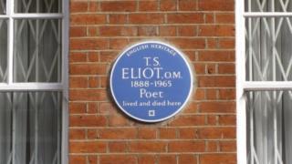 TS Eliot's plaque